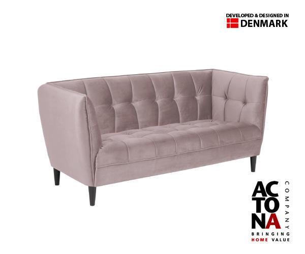 Joana Dusty Rose 3 Seater Sofa